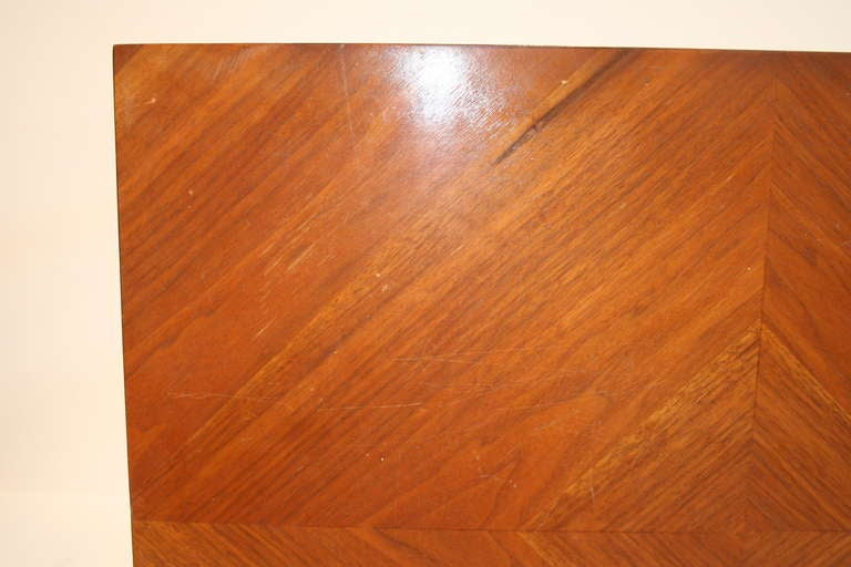 Lane Furniture Co Walnut Parsons Table At 1stdibs