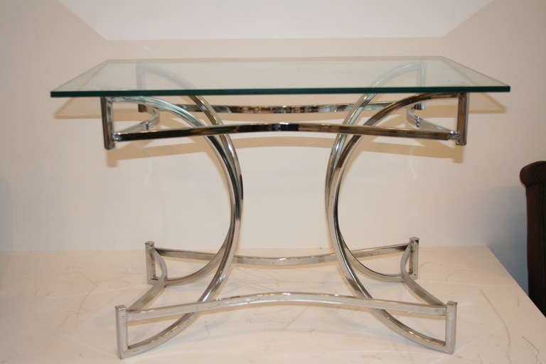 Chrome Sculptural Coffee Table 4
