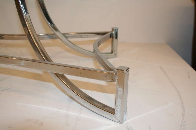 Chrome Sculptural Coffee Table 3