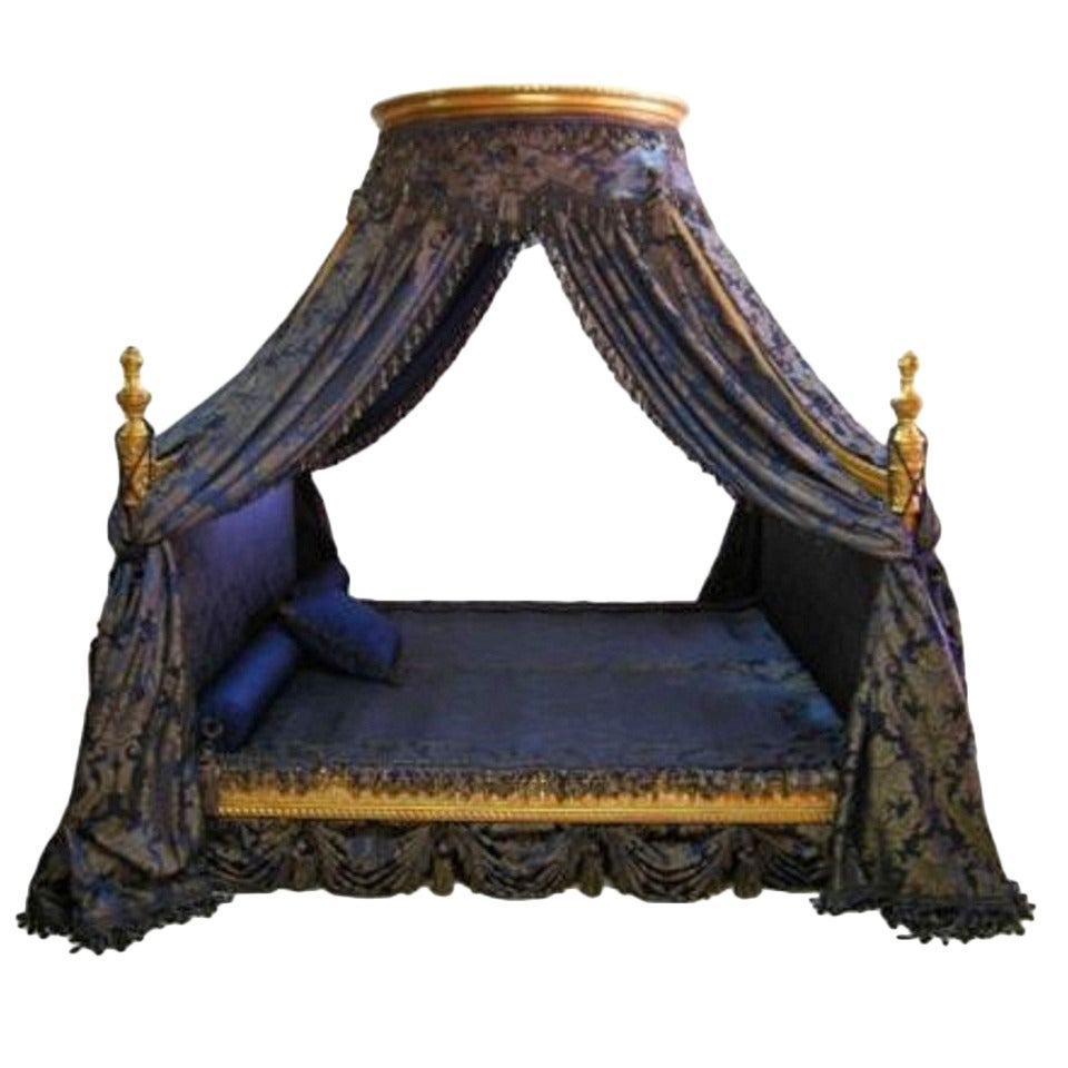French louis xv rococo style canopy bed at 1stdibs for French baroque bed