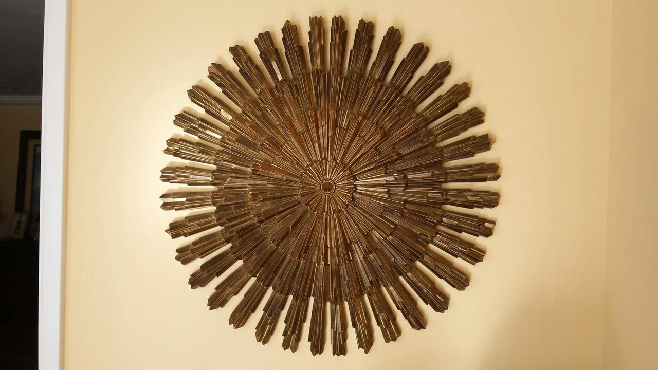 Retro Starburst Wall Decor : Vintage sunburst starburst wood wall decor at stdibs