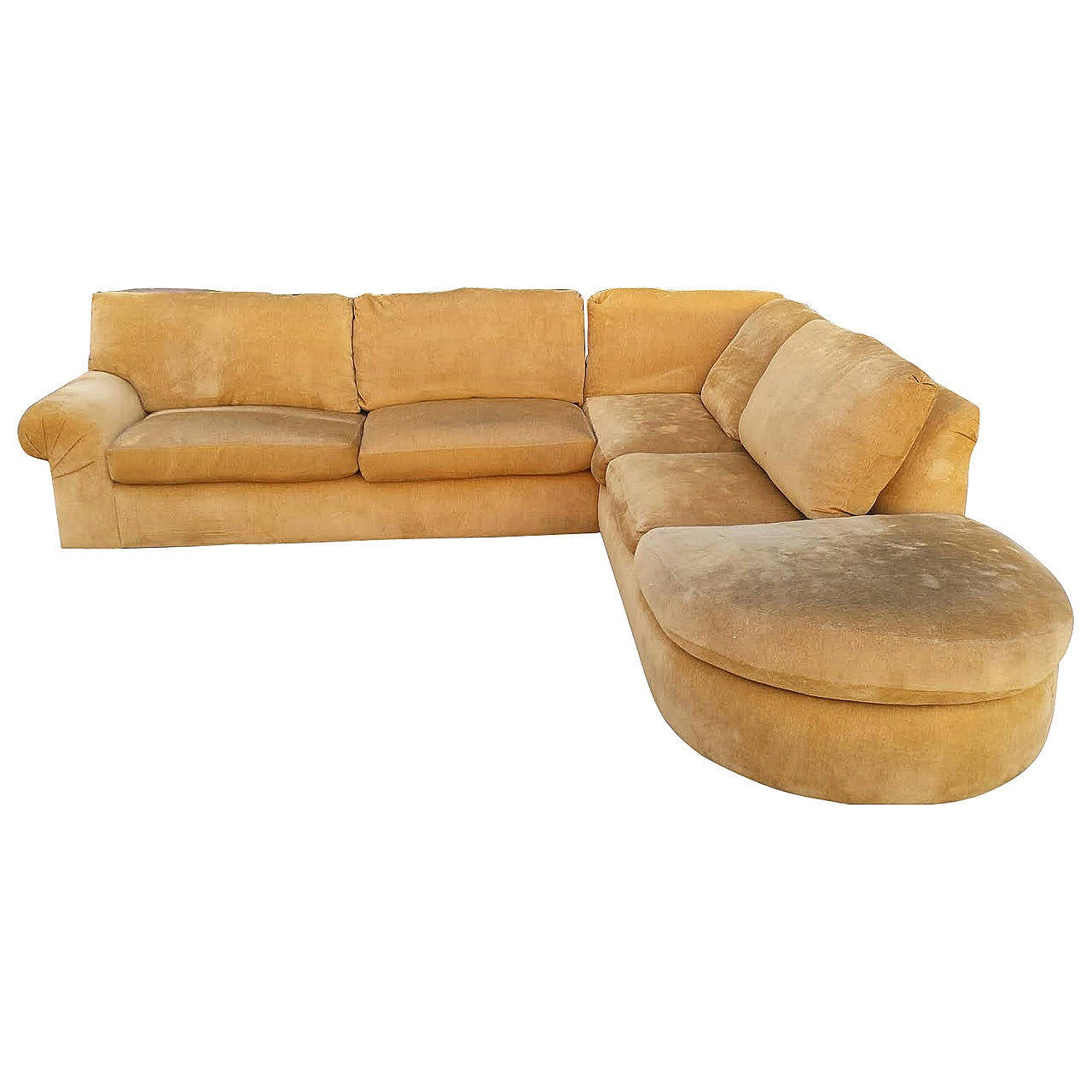 mid century modern sectional sofa by a rudin at 1stdibs