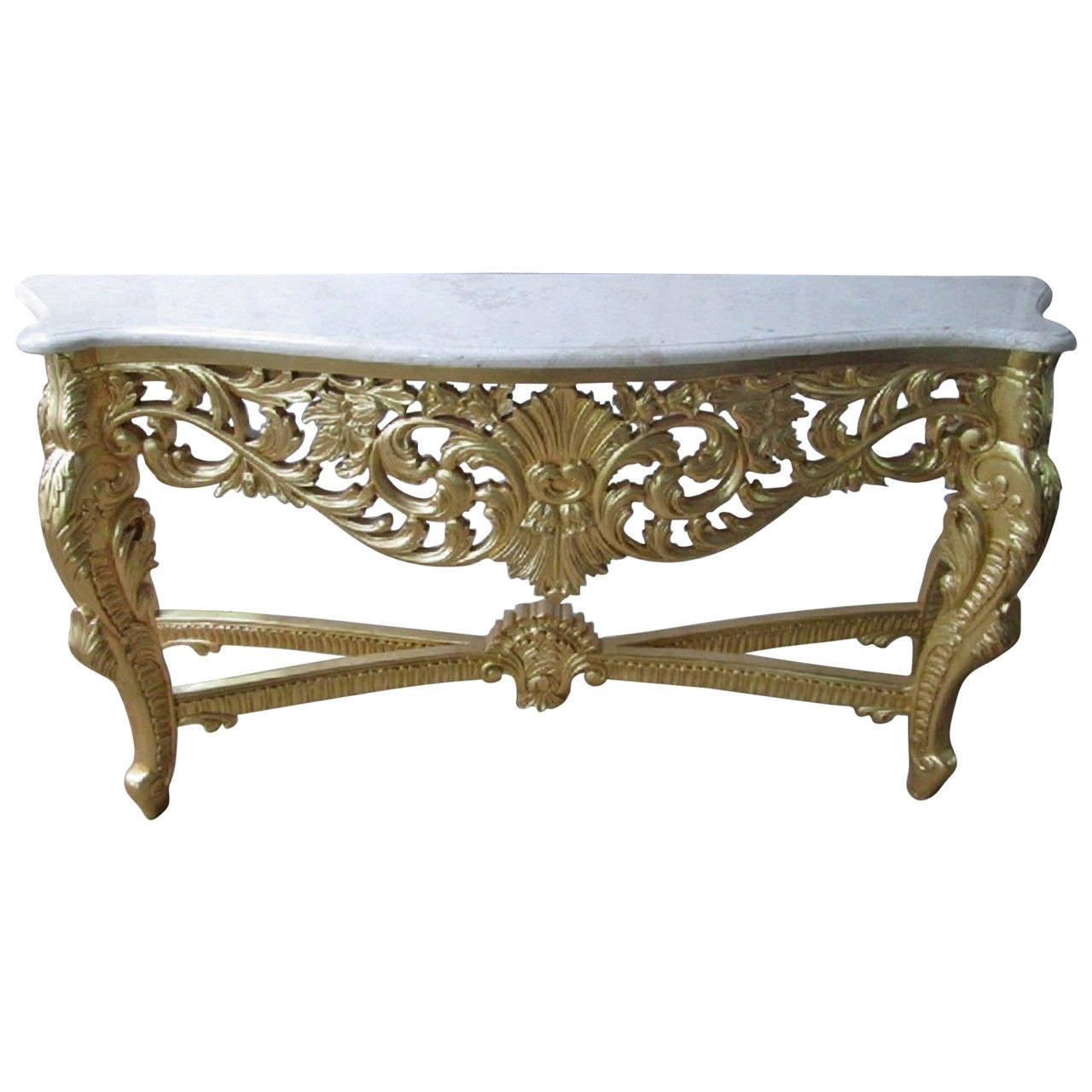french console large french louis xv rococo style console