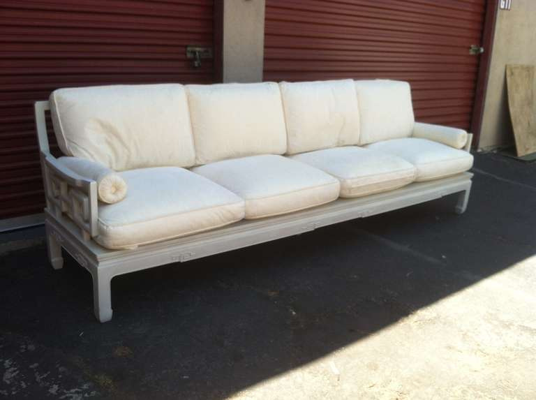 Sofa long sofa in asian style for sale at 1stdibs for Long couches for sale