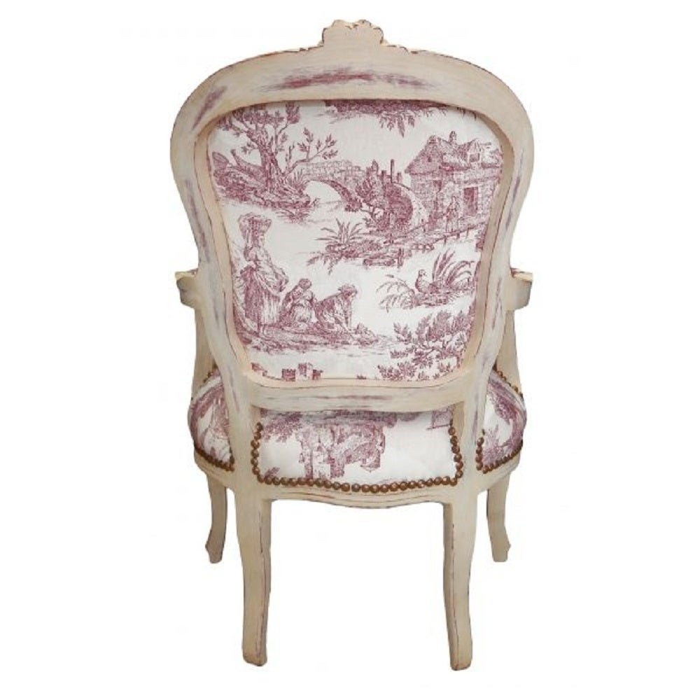 Pair of French Louis XV Style Armchairs Farmhouse Chic For Sale at 1stdibs