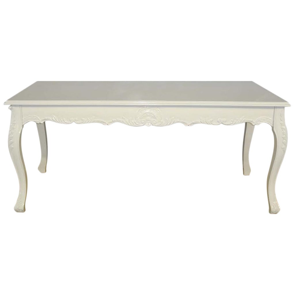 Dining Table French Louis XV Style White Dining Table At 1stdibs