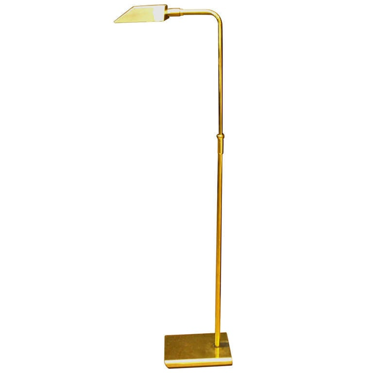 Vintage koch and lowy brass floor lamp at 1stdibs for Babyliss floor lamp antique brass