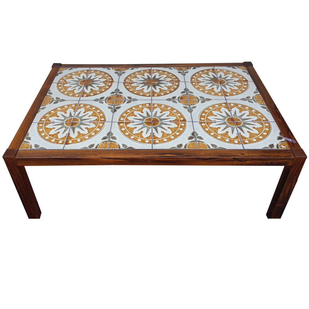 Tile Coffee Table Set: Coffee Table, Mid Century Tile-Top Coffee Table At 1stdibs
