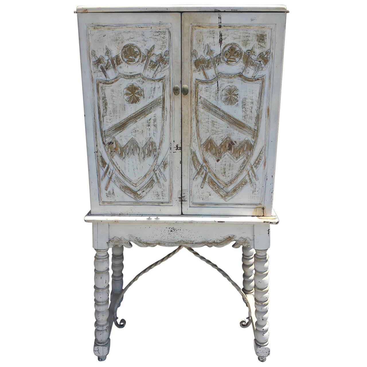 English country painted cabinet on stand at 1stdibs for English country furniture