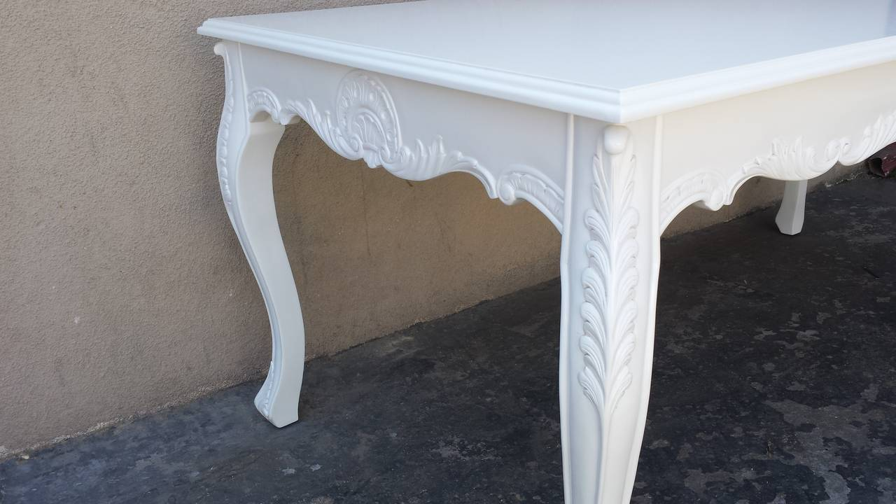 Dining Table French Louis XV Style White Dining Table For Sale At 1stdibs
