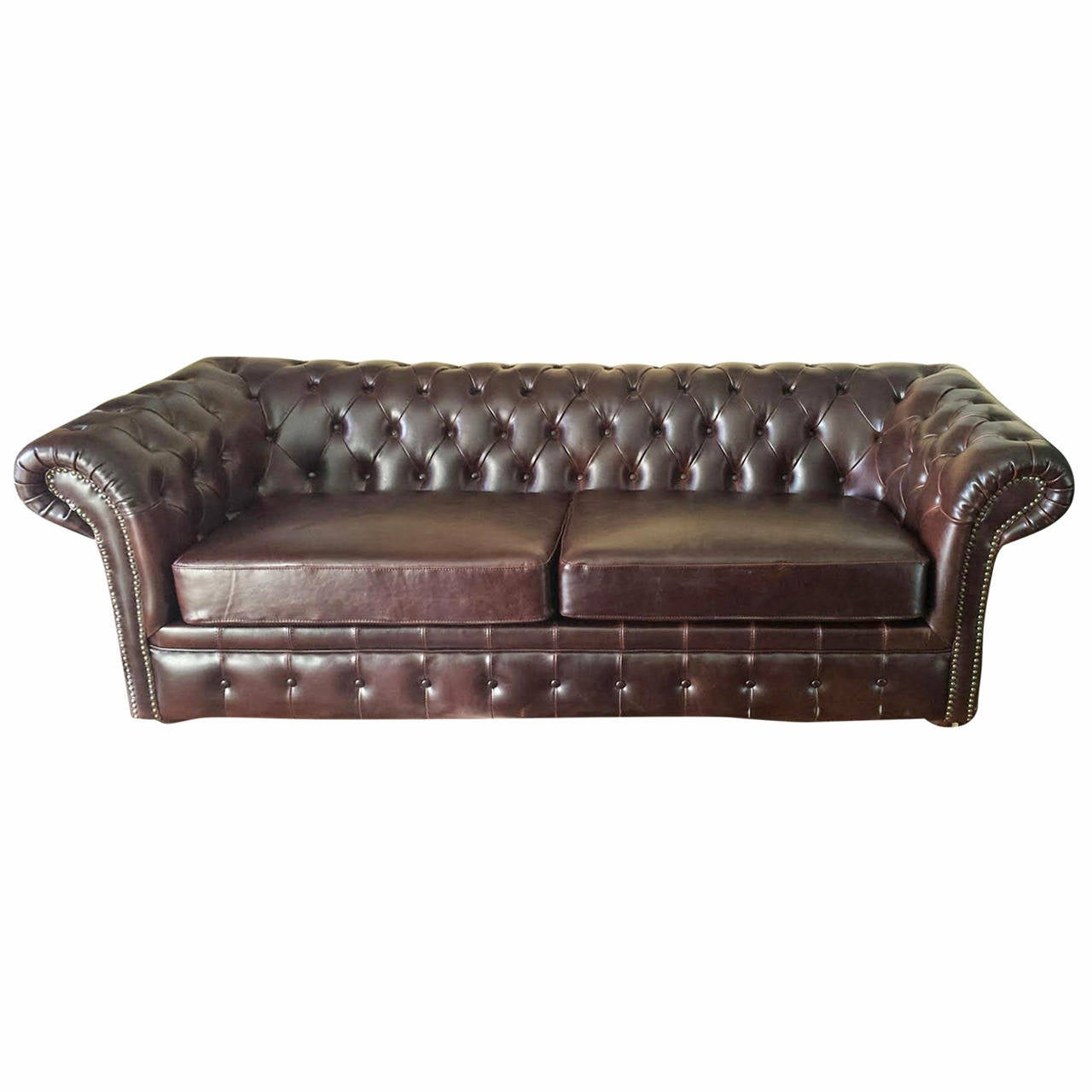 Chesterfield Leather Sofa In Brown At 1stdibs