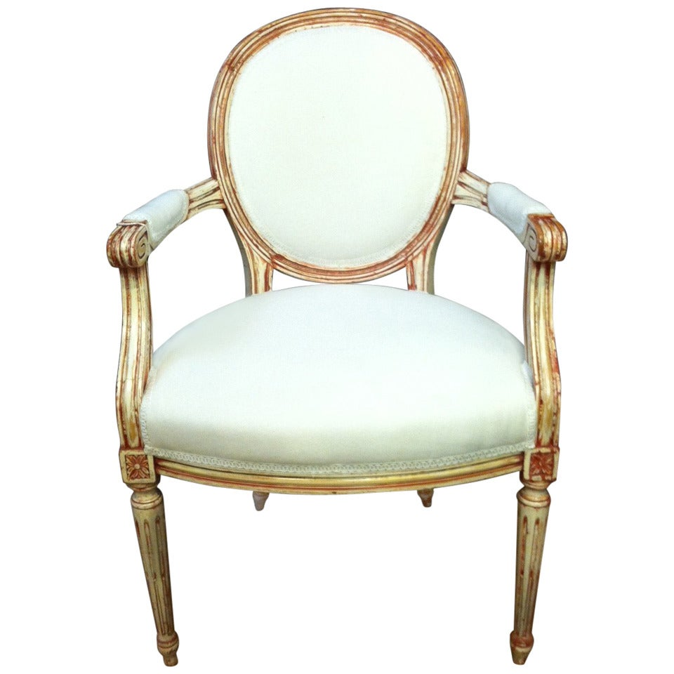 French Louis Xv Style Fauteuil Armchair At 1stdibs
