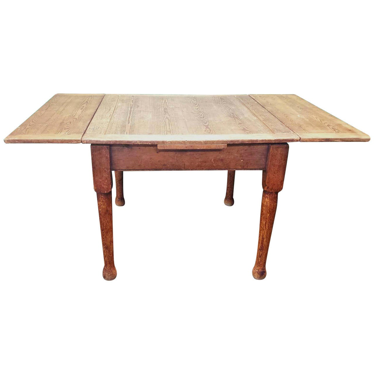 Farmhouse Dining Table With Leaves Drop Leaf