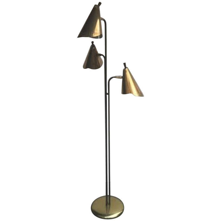 mid century floor lamp at 1stdibs. Black Bedroom Furniture Sets. Home Design Ideas