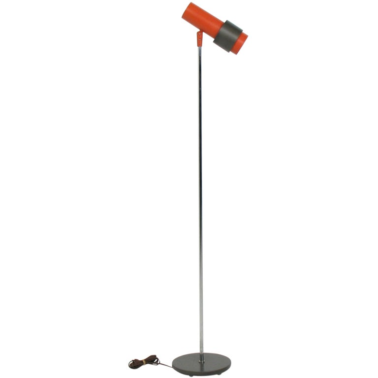 This pair of gerald thurston floor lamps is no longer available - Lightolier Adjustable Floor Lamp At 1stdibs