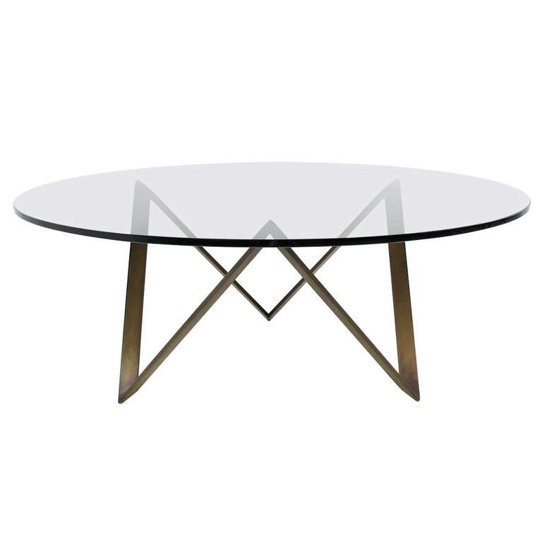 Roger Sprunger For Dunbar Bronze And Glass Mid Century Modern Coffee Table At 1stdibs