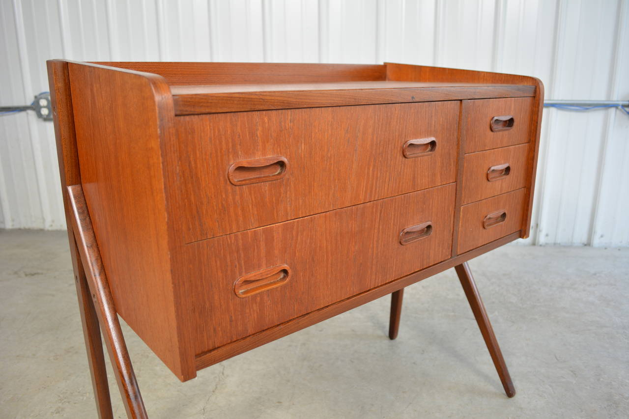 Gunni omann danish modern teak chest of drawers or dresser