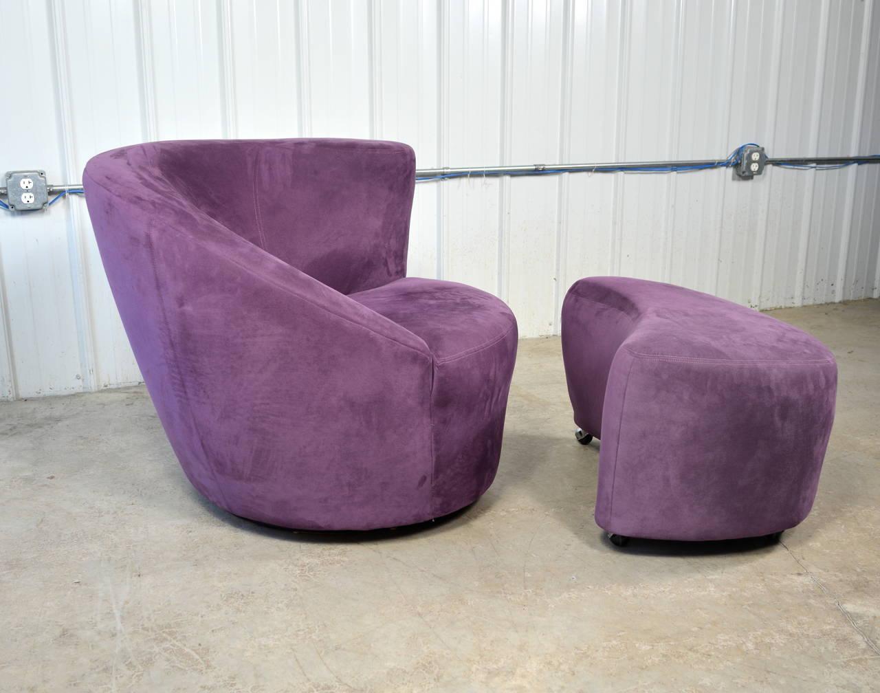 Vladimir Kagan Nautilus Chair And Ottoman For Directional 2