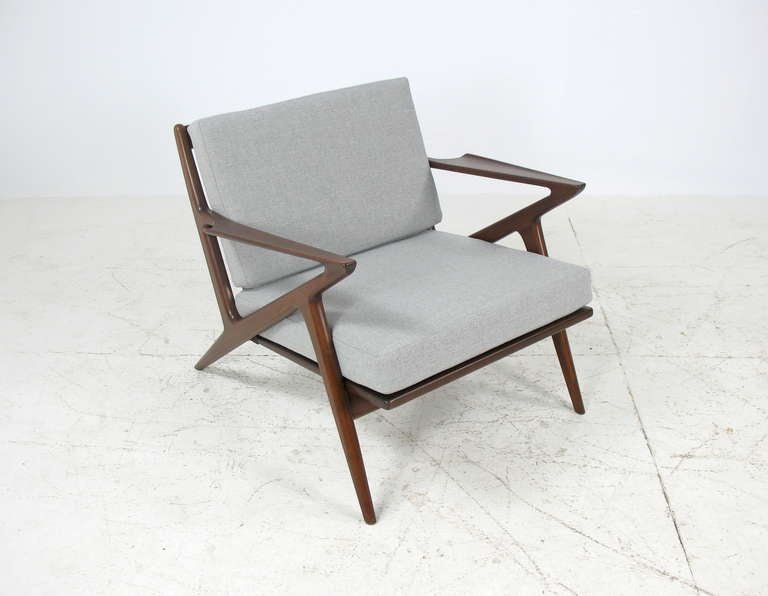 Poul jensen pair of z chairs for selig at 1stdibs - Selig z chair for sale ...
