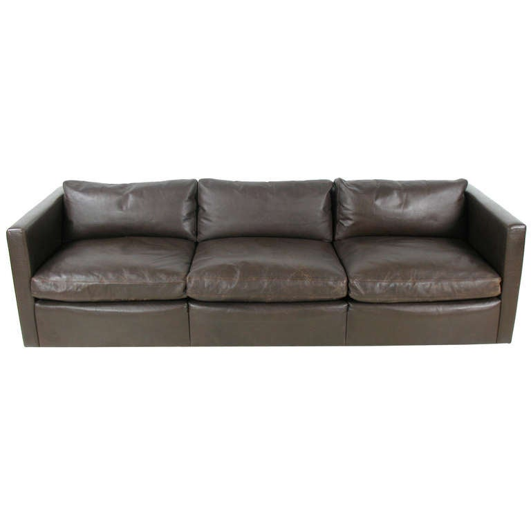 Charles Pfister Leather Sofa For Knoll At 1stdibs