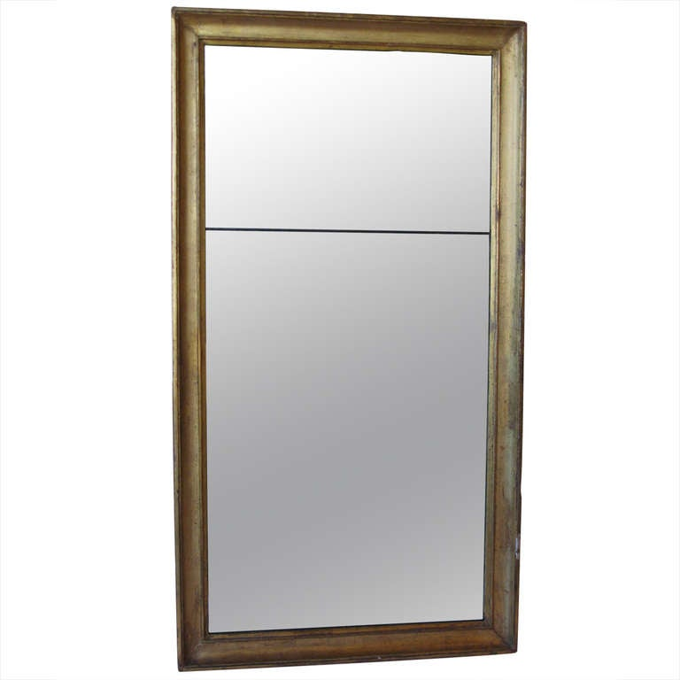 Large gold wood frame mirror at 1stdibs for Full length mirror with mirror frame