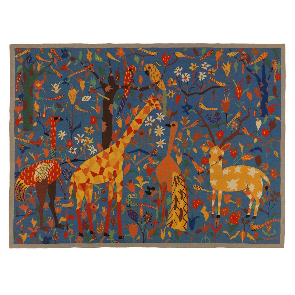 Mid-Century Modern Aubusson Tapestry by Maurice Ferreol