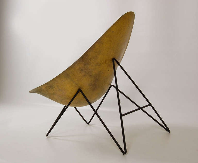 Yellow Lounge Chair by Mérat at 1stdibs