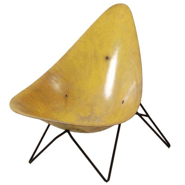 Yellow Lounge Chair by Mérat
