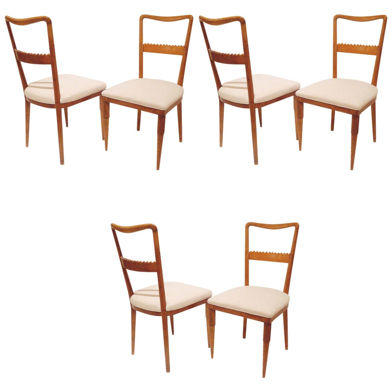 this set of six dining chairs by pier luigi colli is no longer