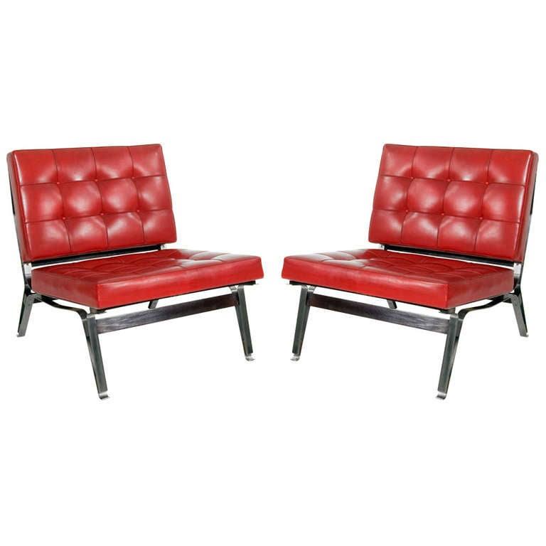 Pair of Lounge Chair by Ico Parisi Model 856