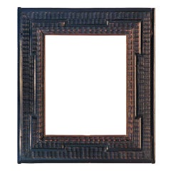 19th Century European Dutch-style Ebonized Wood Frame.