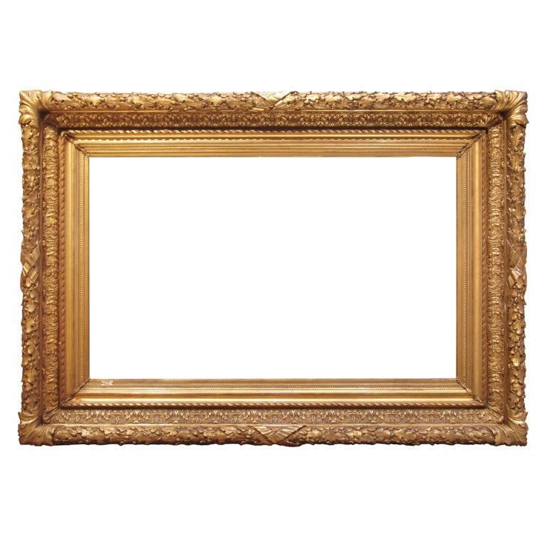 Wall Art Painting With Frame : S american barbizon painting frame gilded cast