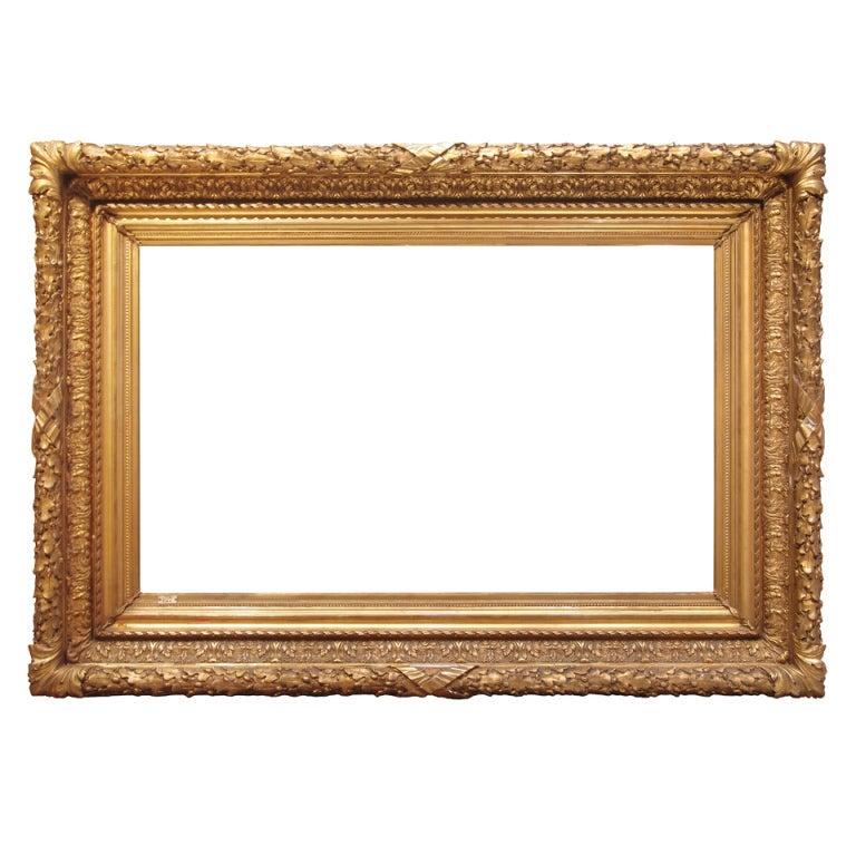 Paint For Glasses Frame : 1880s American Barbizon Painting Frame; Gilded Cast ...