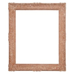 20th Century French Montmartre-style Polychromed Wood Frame.