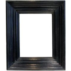 17th-18th Century Italian (Dutch Style) Macassar Ebony Dimensional Wood Frame.