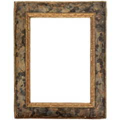 16th-17th century Spanish Polychrome and Gilded Hand-Carved Frame.