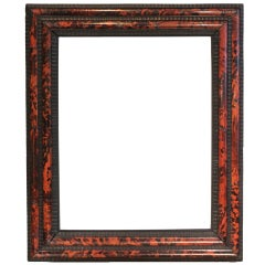 19th-century Tortoiseshell and Ebonized Wood Frame.