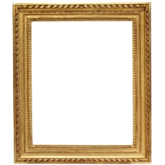 18th-century French Louis XVI gilded wood frame.