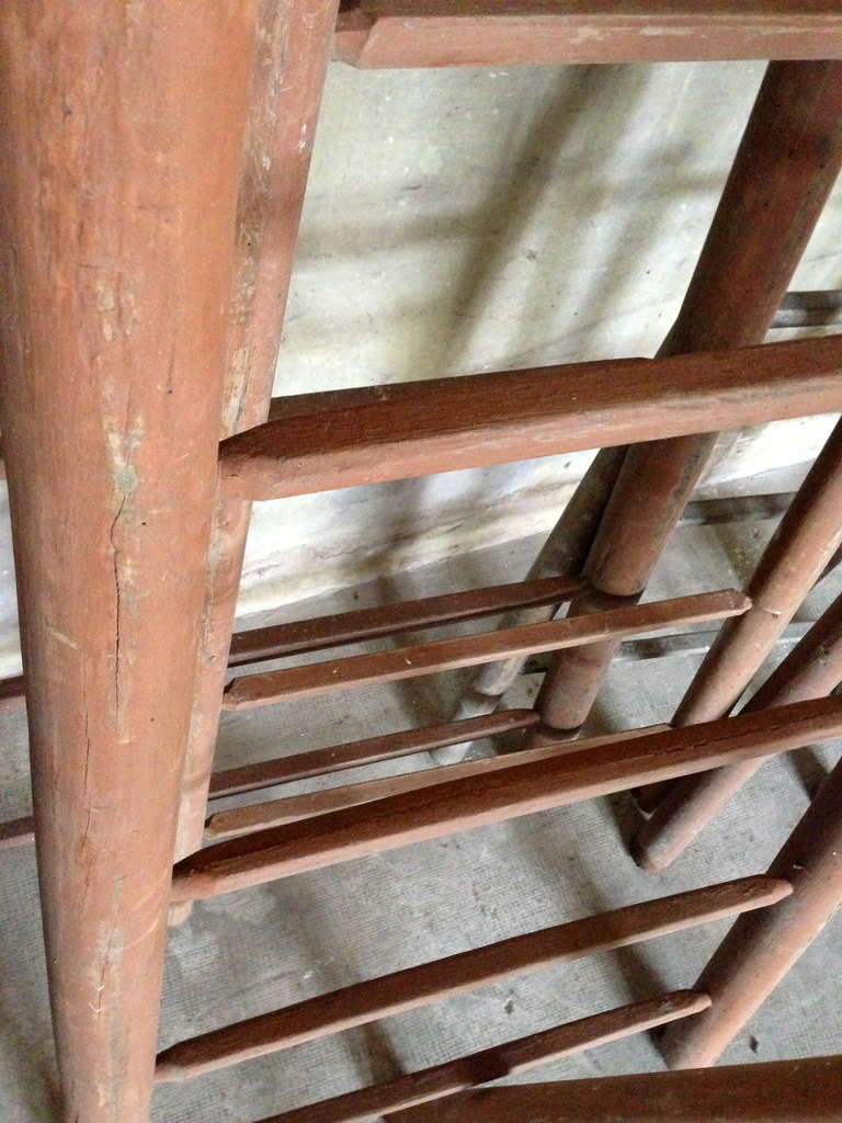 Wood Set of Ten 19th Century Ladders