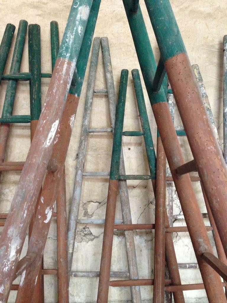Set of Ten 19th Century Ladders 2