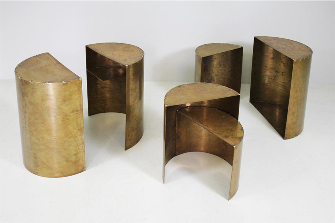Unique side tables by the artist angela mewes at 1stdibs for Unique side tables