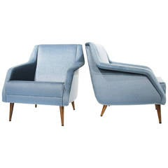 "Pair of Armchairs ""802"" by Carlo de Carli, Cassina, Italy, 1953"