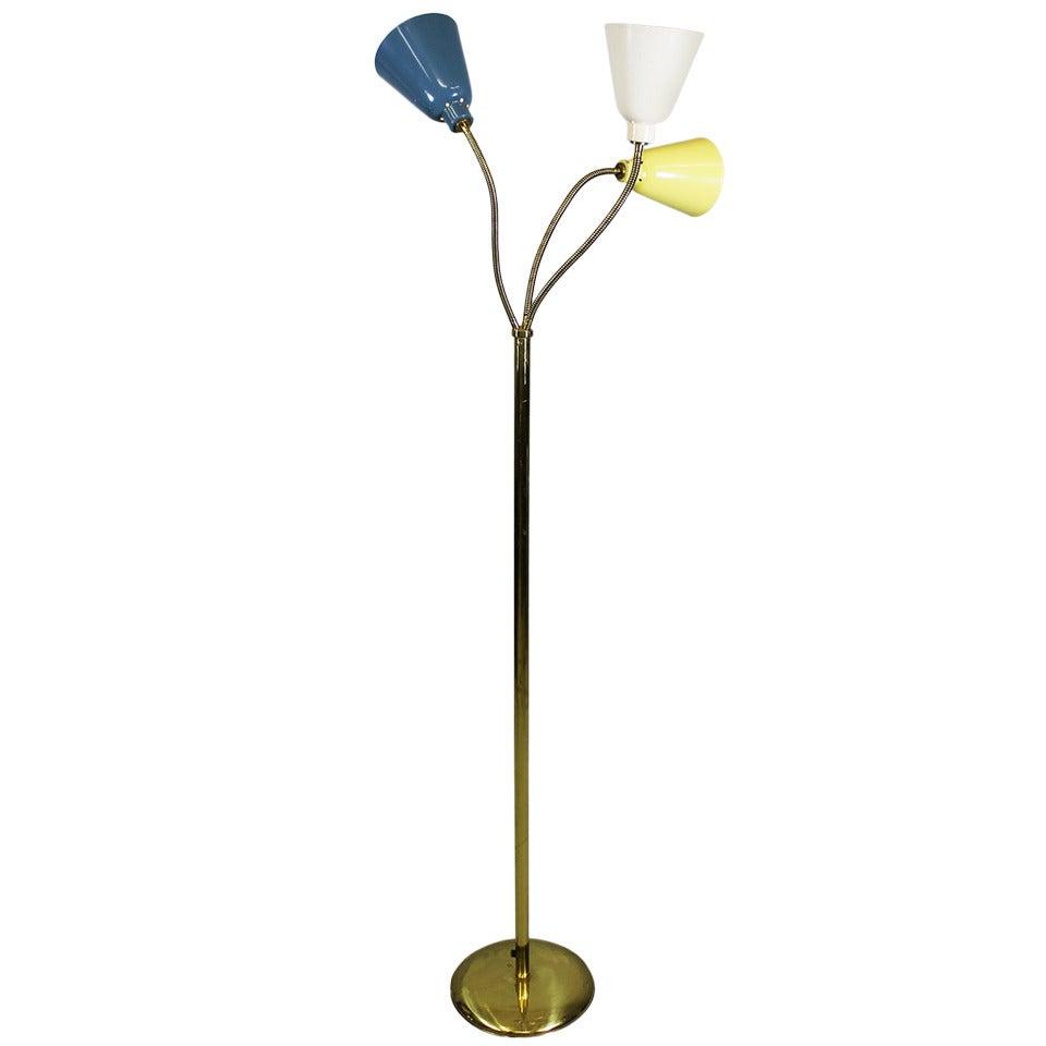 Floor Lamp by Giuseppe Ostuni, O-Luce Italy 1950