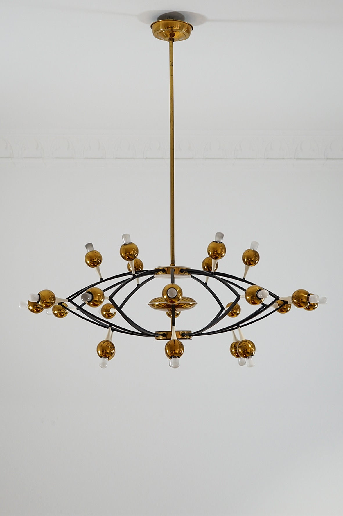 Huge exceptional chandelier by stilnovo italy circa 1950 for sale at 1stdibs - Circa lighting chandeliers ...
