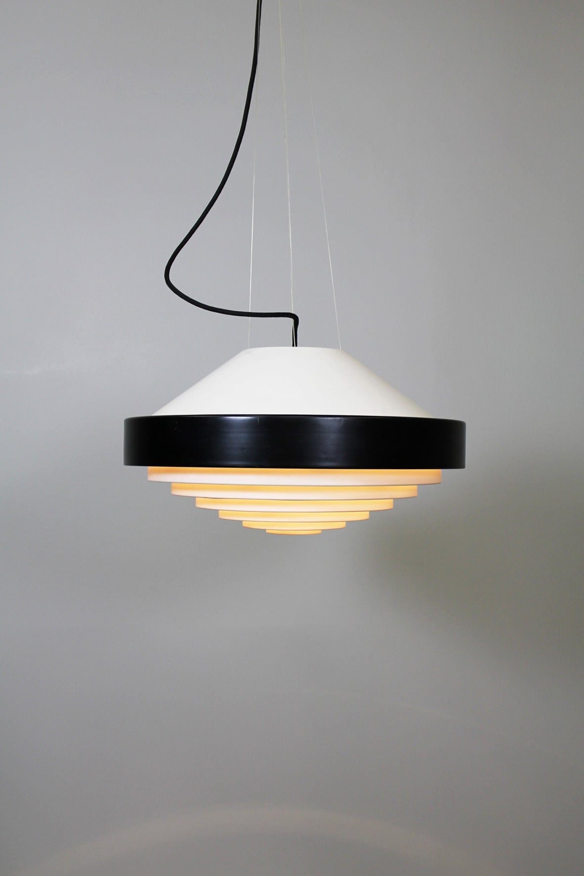 Mid-Century Modern Ceiling Lamp by Bruno Gatta, Stilnovo Italy 1958 For Sale