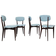"Set of 4  Chairs ""691"" by Ico Parisi, Cassina Italy 1955"