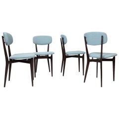 """Set of 4  Chairs """"691"""" by Ico Parisi, Cassina Italy 1955"""
