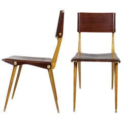 Pair of Carlo De Carli Chairs, Figli di Amedeo Cassina, Meda, 1954