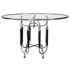 Roberto Gabetti & Aimaro Isola Circular Glass Dining Table