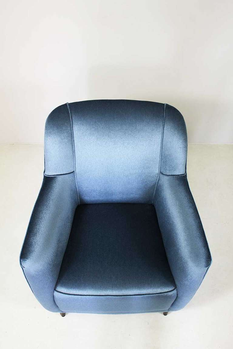 Upholstery Armchair by Gio Ponti, Cassina, circa 1945 For Sale